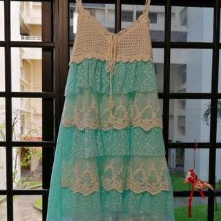 Dress lace crochet
