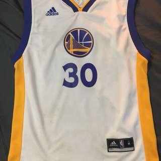 🚚 NBA 金州勇士 Curry 30號 青年版球衣 M 聖誕節 adidas