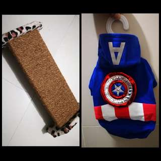 Cat Scratch Pad and Captain America Costume
