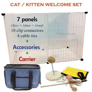 Kitten / Cat Cage Set with Accessories