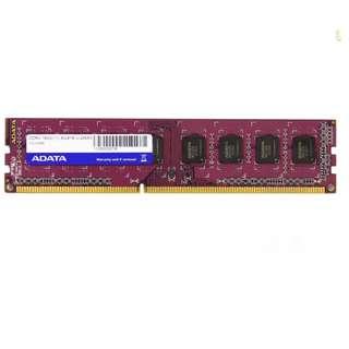 (二手) 95%NEW ADATA  Premier DDR3 1600MHz 記憶體
