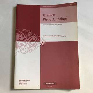 Grade 8 piano anthology
