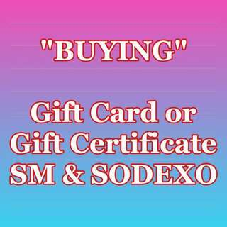 Buying Gift Card or Gift Certificate