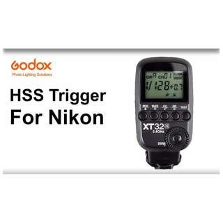 Godox XT32-N 2.4G 1/8000s Flash Trigger Transmitter for Nikon Fit XTR-16 XTR-16S