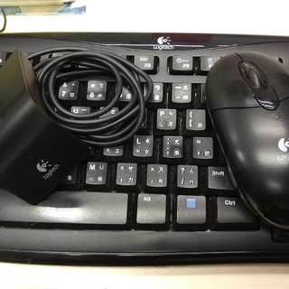 Logitech Coreless keyboard mouse