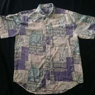 Vintage Snow Abstract 100% Washed Silk