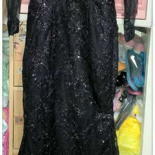 For rent - Black bodycon long dress