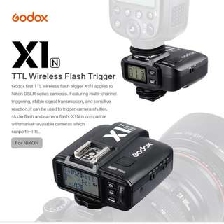 Godox X1N First TTL 2.4 G Wireless Flash Trigger Transmitter & Receiver For Nikon Series Cameras