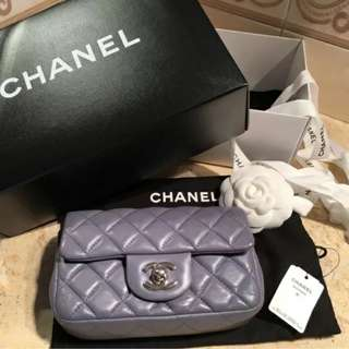 Chanel Lambskin Mini Rectangular Flap