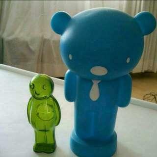Coin bank Blue teddy bear