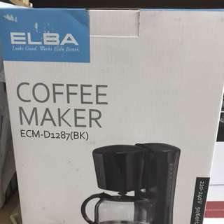 Elba coffee maker with anti-drip feature