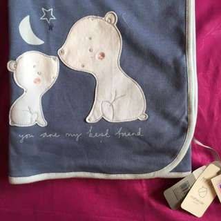 Selimut Mothercare ( Little bear shawl blanket )