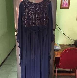 Long dress muslim zalia uk S