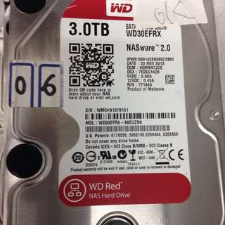 Selling wd 3tb red sata hdd $100