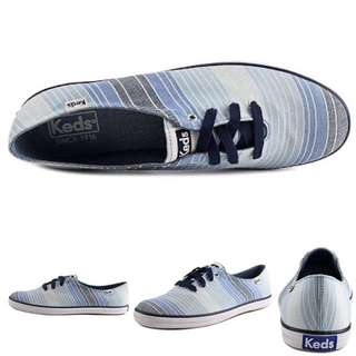 Brandnew Authentic Keds Champion Ombre Stripes Blue