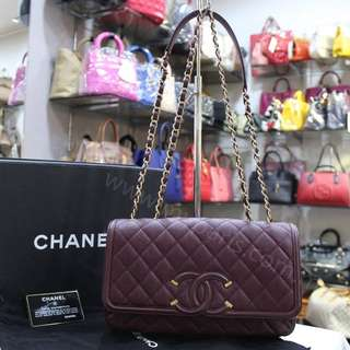 Chanel CC Filigree Medium Flap Bag Condition :  99% New, Like New My Paris Price : RM 11980