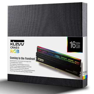 KLEVV CRAS II RGB DDR4 3200mhz CL16 1.35v  16GB ( 8gb X 2 ) Gaming Memory series revived with stunning RGB lightings. CRAS II RGB will go beyond your expectations.