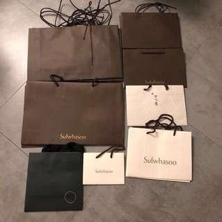 雪花秀 紙袋 Sulwhasoo/ Amore Pacific Paper Bag (大/中/細size)
