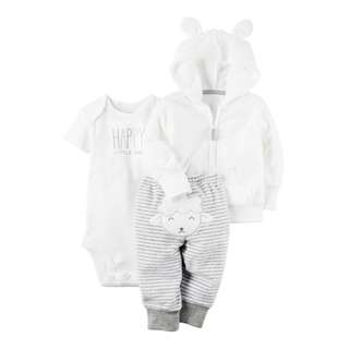 CARTER'S 3-Piece Terry Little Jacket Set