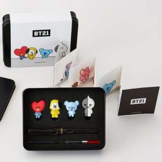 BT21 x LAMY 限定墨水筆 鋼筆 (TATA, CHIMMY, KOYA, VAN)  BTS 防彈少年團