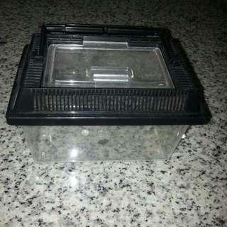 Used Small Black Plastic Fish Tank