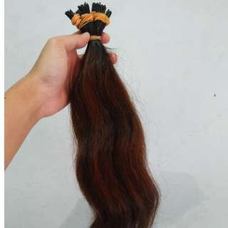NEW Hair extension 100helai darkbrown 55cm