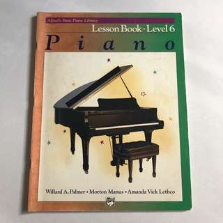 Alfred's basic piano library lesson book level 6