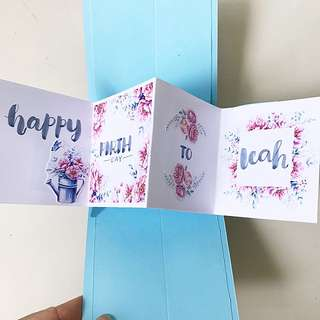 Happy birthday to u twist and pop handmade card