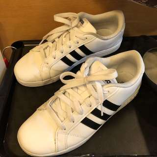 adidas 愛迪達 復古白色 球鞋 三葉草 37/38號