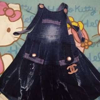 Overall jeans anak