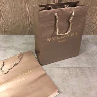 Bvlgari Paper Bag 紙袋 x 2