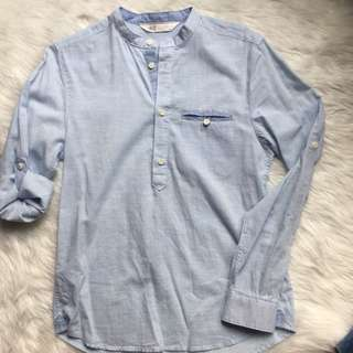 H&M light blue polo (see last photo when worn)