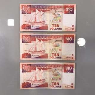 $10 Singapore Notes