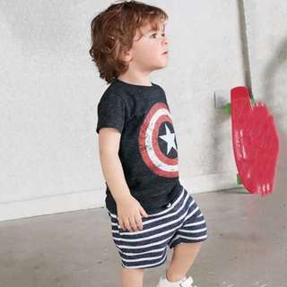 Kid American captain clothing set Casual Outing Wear