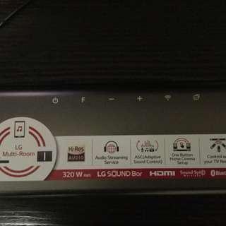 LG soundbar-WIFI SJ6 (2daysold)
