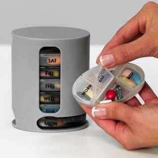 pill pro 迷你藥丸收納盒 便捷式藥品收納盒 7天藥盒
