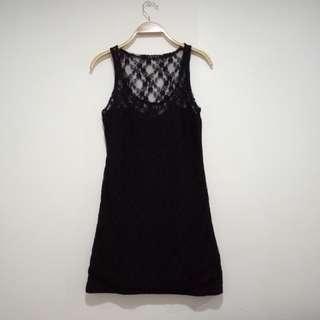 Black dress (laced/cotton)
