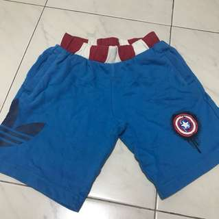 Original Adidas Captain America shorts (4-5yo)