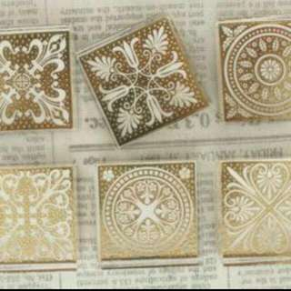 Brand New Square Crystal Stamps - Set Of 6 Seals