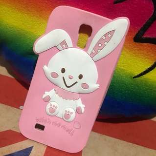 S4 Pink Bunny rubber Case