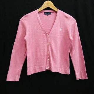 Sized 140 Baju anak Ralph Lauren Pink Knit Cardigan Outer Outwear Teenage kids