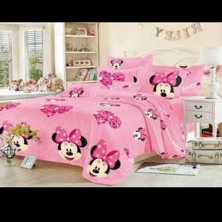 US cotton 4in1 bedsheet 2 pillowcase 1 fittedsheet 1 kumot single size 590 double size 610 queen size 630