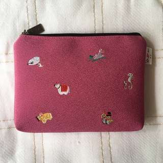 Japanese Pink Zip Bag