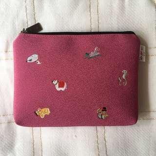 Japanese Pink Zip Bag