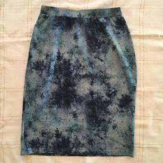 Blue Ezra Tie-dye Skirt