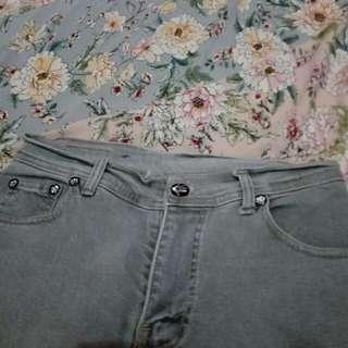 Celana jeans abu #cintadiskon