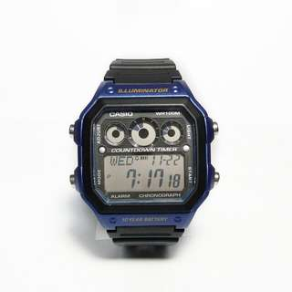 Jam tangan Casio AE-1300WH-2AV biru