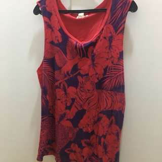 Forever 21 red muscle tee