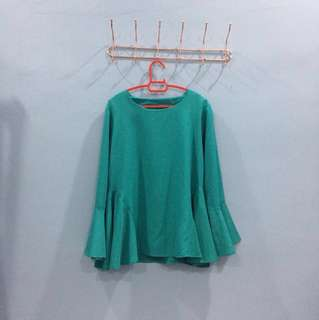 Xera Plain Blouse (Greenish)