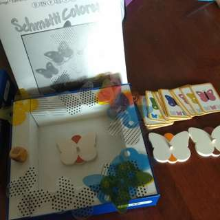 Wooden butterfly game